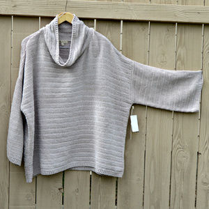 Oversized Boxy Chenille Sweater with Cowl Neck